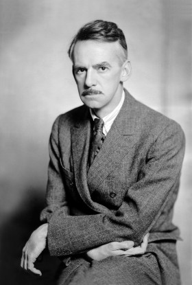 Black and white portrait photo of Eugene O'Neill