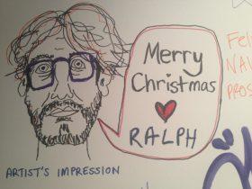 Ralph Myers, drawing, Christmas
